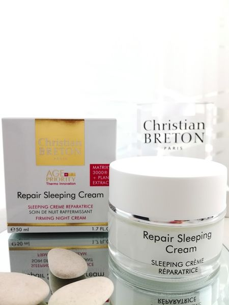 Kiinteyttävä yövoide - Christian BRETON Repair Sleeping Cream 50 ml